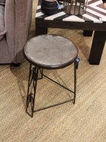 Black metal stool Debout, factory style, Chehoma