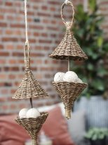 Rattan bird feeder, country decor, ib Laursen