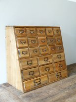 Wooden haberdashery furniture with 23 drawers, antique style
