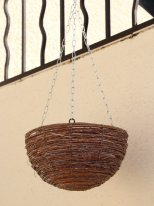 Large wooden suspension for plant, country decor
