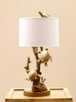 Resin lamp Bathing of golden turtles, seaside decor, Chehoma