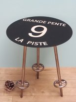 Complement table Piste noire 9 Grande Pente, mountain decor