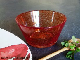 Coupe verre bulle Yam orange, Sphere Inter