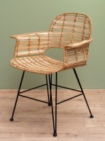 Natural rattan chair & armrests Lana, natural decor Chehoma