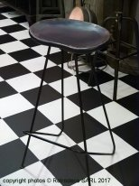 Tabouret de bar Coven assise bois, Chehoma