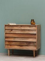 Natural mango dresser Jalousie 3 drawers Chehoma