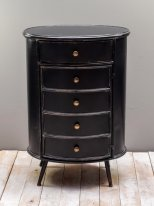 Antique black metal oval complement cabinet Orleans Chehoma