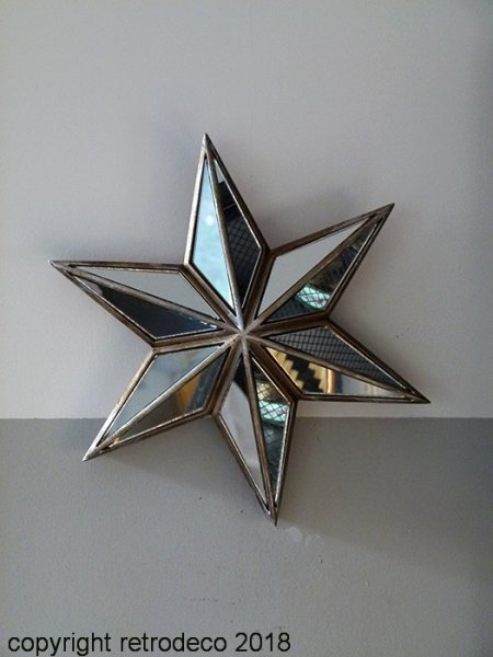 Mural stars with mirrors, antique style, Chehoma