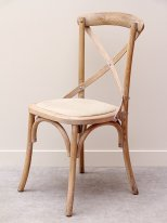 Beech timber and fabric Chair Marius, country decor, Chehoma