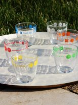 Set of 6 glass Duralex Quel âge as-tu Atomic Soda