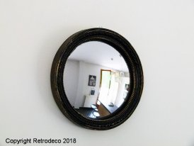 Black and gold witch's mirror 13cm Chehoma