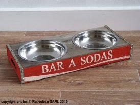 Gamelle double Bar à Sodas, déco brocante, Antic Line