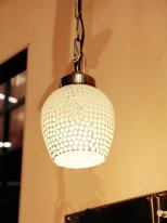 Pendant light glass round mosaic, antique style, Chehoma
