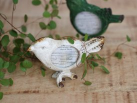 Mini photoframe antique white bird, cosy style, Chehoma