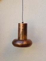 Antic brass metal hanging lamp Mario, factory style, Athezza