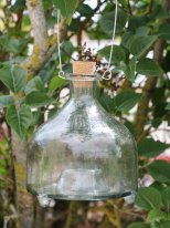 Glass wasp trap to be suspended, countryside style, Ib Laursen