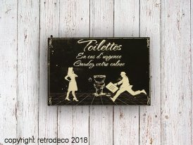 Metal sign Toilets Gardez votre calm Antic Line