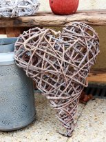 Heart wrapped with twigs, countryside style, Ib Laursen