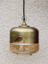 Brass and glass hanging lamp Hybrid Chehoma