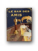 Metal sign Le Bar des Amis, bistro style, Antic Line