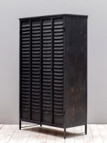 Antique black Iron Cabinet Locker, factory style, Chehoma