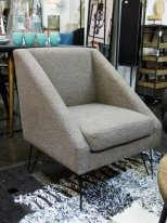 Grey fabric armchair Half Hanjel