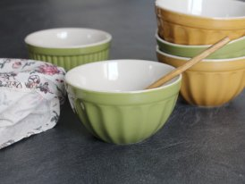 Stoneware müsli bowl Mynte Herbal Green, Ib Laursen