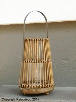 Wooden lantern Savona, ethnic style, Light & Living