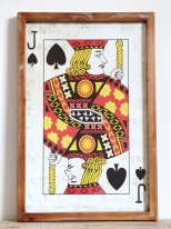Wooden frame Jack of Spades retro style, Chehoma