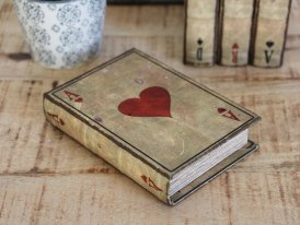 Cards game box As de coeur, antique decor, Antic Line