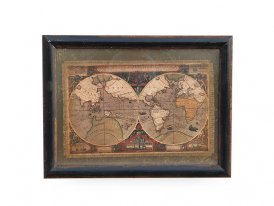 Picture World on linen, antique decor, Sphere Inter