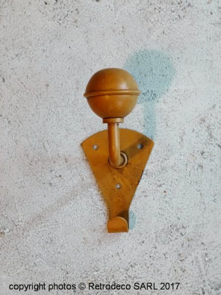 Yellow metal coat hook, factory style, Sphere Inter