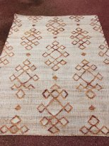 Jute, wool and cotton rug Asthe Athezza