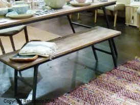"Recycled teak bench ""Market"" Chehoma"