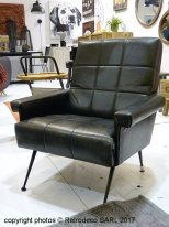 Antique leather armchair Fabio, vintage style, Hanjel