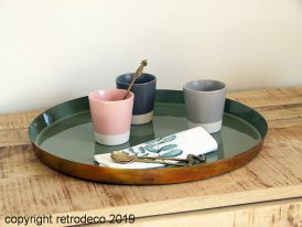 Metal tray Colors Olive glossy Athezza