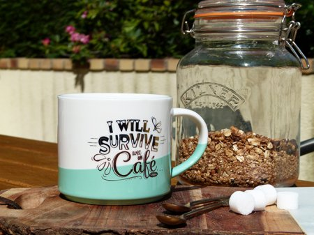 Mug bicolore I will survive, Natives Deco