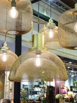 Gold metal hanging light Vienne Athezza