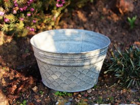Small zinc basin Beowulf, countryside decor, Krentz