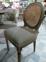 Linen and jute chair Valbelle, cosy style, Chehoma