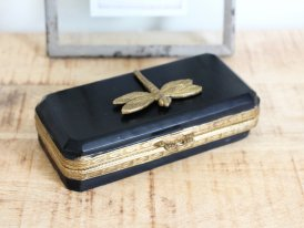 Resin and metal Dragonfly, antique decor, Chehoma