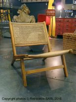 Wooden and cane plaiting armchair, Chehoma