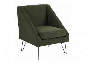 Green fabric armchair Half Hanjel