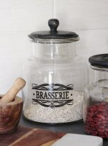 Glass jar Brasserie, antique decor, Antic Line