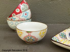 Small ceramic bowl Bohemian multicolor Chehoma