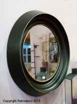 Black and gold metal mirror Glasgow Athezza