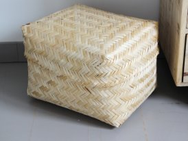 Large bamboo box, natural style, Athezza