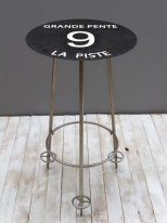 Bar table black run Grande Pente 9, mountain decor, Chehoma