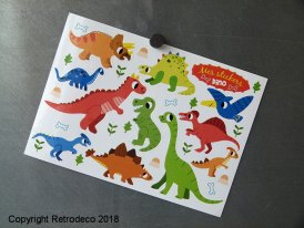Postcard Stickers Dino, Marion Billet
