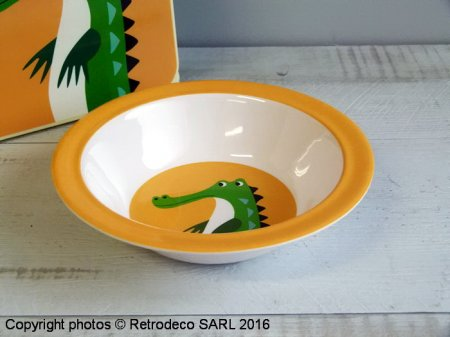 Bol en Mélamine Crocodile, déco vintage, Rex International